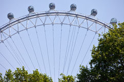 London Eye Viewed From St. James's Park in London Stock Photography