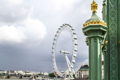 The London Eye from Westminster Bridge Stock Photos