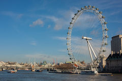 London Eye from Westminster Bridge Stock Photography