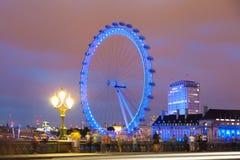 London eye from Westminster bridge Stock Image