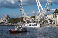 London Eye from Westminster Stock Photography