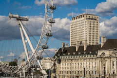 London Eye from Westminster Royalty Free Stock Photo