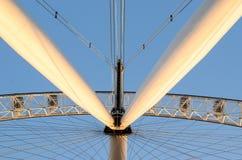 London Eye wheel detail of its engine stock photography
