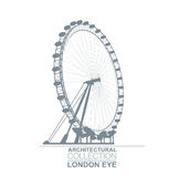 London Eye Wheel Royalty Free Stock Images