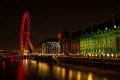 London  Eye Wheel Stock Images