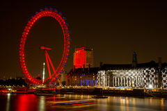 London  Eye Wheel Stock Photography