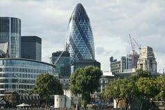 london för affärsstadsområde horisont Fotografering för Bildbyråer