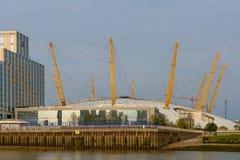 """London Förenade kungariket †""""Augusti 17: Horisontalsikt av O2en ar Arkivbilder"""