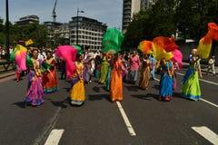 24/06/2018 London Förenade kungariket Älskvärda färger på gatorna Fotografering för Bildbyråer
