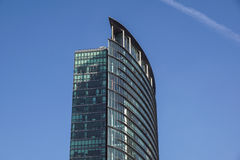London Förenade kungariket - April 06 2017: Canary Wharf är ett av de två viktiga affärsområdena i London _ Royaltyfri Bild
