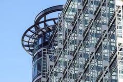 London Förenade kungariket - April 06 2017: Canary Wharf är ett av de två viktiga affärsområdena i London _ Arkivbilder