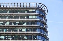 London Förenade kungariket - April 06 2017: Canary Wharf är ett av de två viktiga affärsområdena i London _ Fotografering för Bildbyråer
