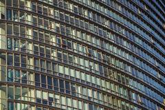 London Förenade kungariket - April 06 2017: Canary Wharf är ett av de två viktiga affärsområdena i London _ Arkivfoto