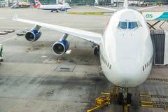 LONDON FÖRENADE KUNGARIKET - AUGUSTI 19, 2014: Brithis flygbolag Boeing Arkivbilder