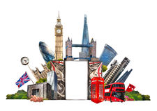 London. Famous buildings of London, Travel and business background Stock Photos