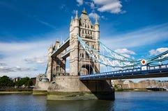 London famous landmark, tower bridge is a victorian suspension bridge Royalty Free Stock Images