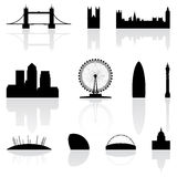 London famous landmarks vector illustration