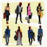London fashion street  set Royalty Free Stock Photos