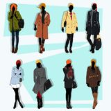 London fashion street vector set Royalty Free Stock Photo