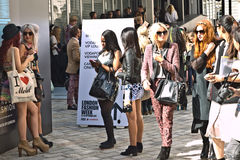 London Fashion Week at Somerset House. Stock Photography