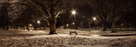 London Fields, London. A snow covered London Fields, East London Royalty Free Stock Photography