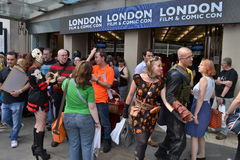 London-Film-komische Betrug-Olympia Stockfotos