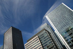 London financial district. At Canary wharf stock photography