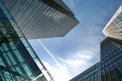 London financial district. At Canary wharf royalty free stock photo