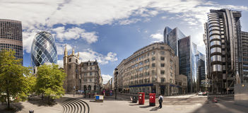 London financial district. Panorama of the London financial district Stock Images