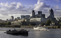 London Financial District. View accross the River Thames to Londons Financial District Royalty Free Stock Photo