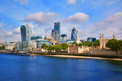 London financial district skyline Square Mile Royalty Free Stock Photography