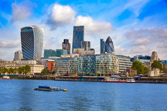 London financial district skyline Square Mile Royalty Free Stock Image