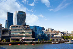 London financial district skyline Square Mile Stock Image