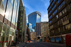 London financial district street Square Mile UK Royalty Free Stock Photography