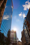 London financial district street Square Mile UK Royalty Free Stock Photo