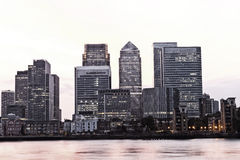 London  financial downtown district cityscape Royalty Free Stock Photo