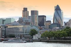London Financial Hub atevening Royalty Free Stock Images