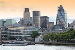 London Financial Hub atevening. The London Financial Hub atevening Royalty Free Stock Images