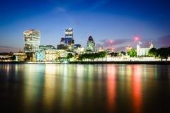 London finansiellt område Arkivfoton