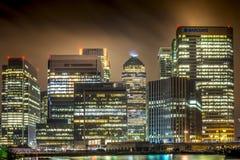 London finansiellt område arkivfoto