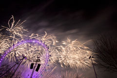 London Fireworks Stock Image