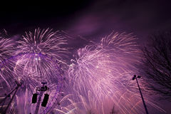 London Fireworks Royalty Free Stock Photo
