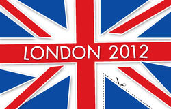London flag 2012. United kingdom flag for olympic summer game 2012 Royalty Free Stock Photography