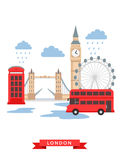 London flat background vector Royalty Free Stock Photo