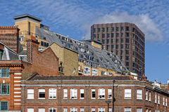 London flats and offices. Image taken of  roof top flats and offices in central london, england Stock Photos