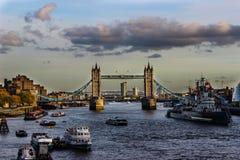 London flod Royaltyfri Fotografi