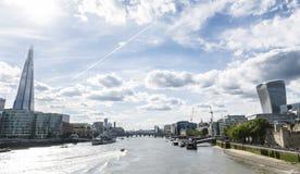 London flodbank Arkivbild