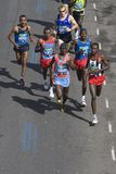 London Flora Marathon. 13 April 2008, London/UK, Leading male runners at London Flora Marathon 2008 with later winners Martin Lel (Kenya), Samuel Wanjiru (Kenya stock photography