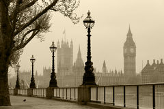 London in fog Stock Photos