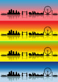 London four seasons. London silhouettes in different colours representing four seasons royalty free illustration